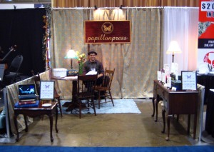 The booth as it was when we were done with it. I'm particularly proud of our sign.