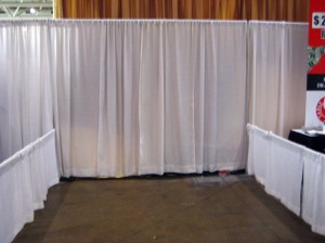 The booth as it was when we arrived