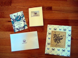Includes a congratulatory engagement card, a pamphlet, a letterpressed envelope and our portfolio book